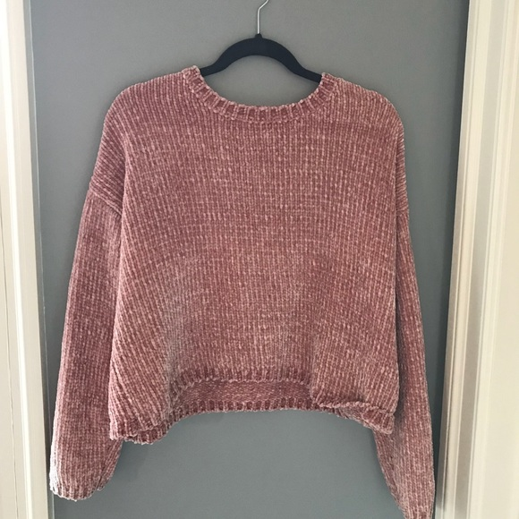 PacSun pink chenille sweater